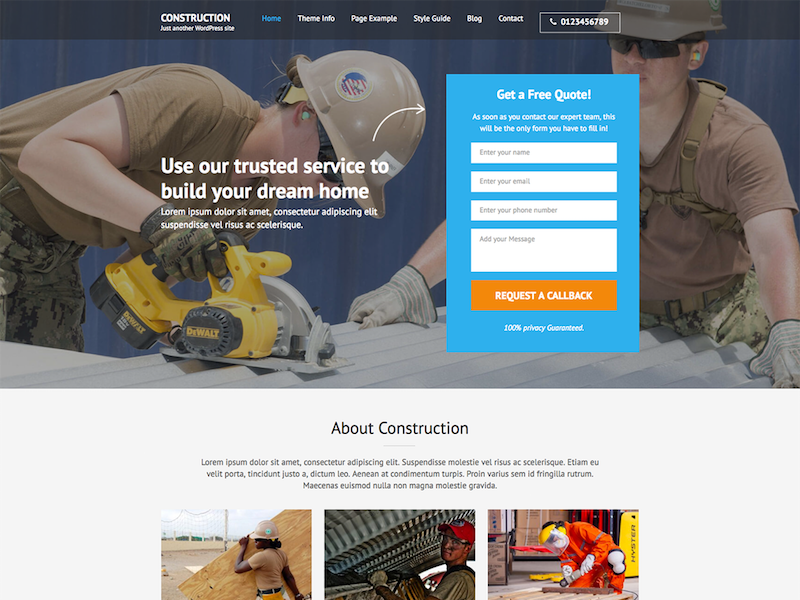 construction-landing-page-theme