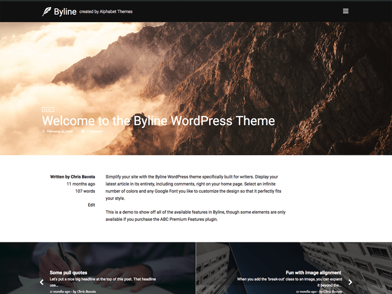 Byline-wordpress-theme