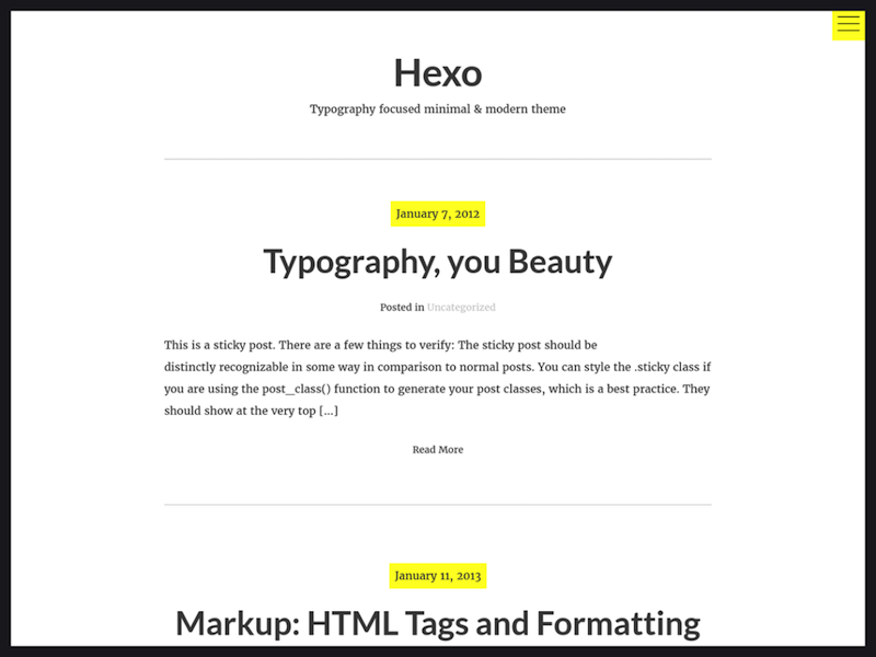 Hexo-wordpress-theme